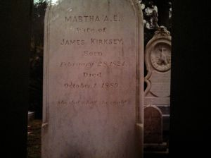 My husband and I used to be cemetery fanatics. This one, from Savanna, was always one of my favorites. It was next to the husband's headstone, which was about 10 feet high and inscribed with every freaking thing he'd ever done or joined. Go ahead. Click on it. Behold the last line of the epitaph. That's what I call honest. Makes her husband look like a narcissistic wiener.